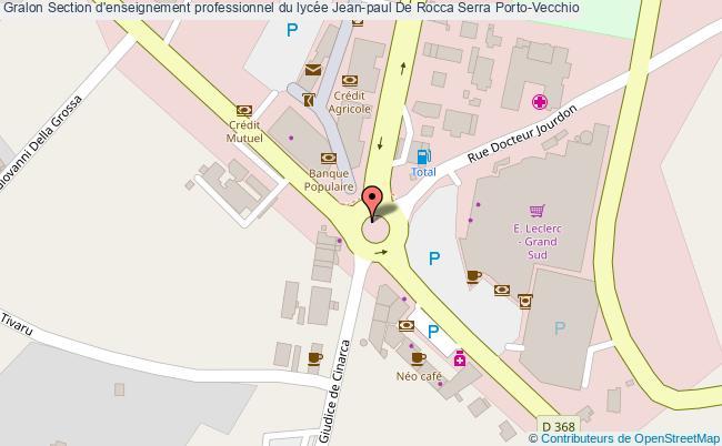 plan Section D'enseignement Professionnel Du Lycée Jean-paul De Rocca Serra Porto-vecchio Porto-Vecchio