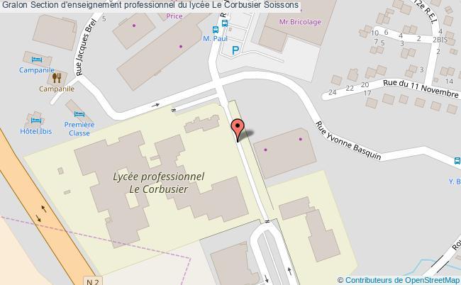 plan Section D'enseignement Professionnel Du Lycée Le Corbusier Soissons Soissons