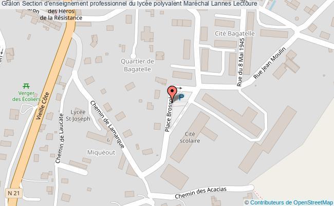 plan Section D'enseignement Professionnel Du Lycée Polyvalent Maréchal Lannes Lectoure Lectoure