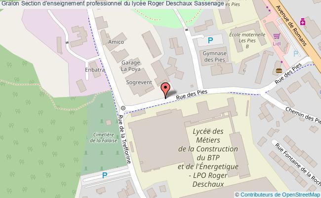 plan Section D'enseignement Professionnel Du Lycée Roger Deschaux Sassenage Sassenage