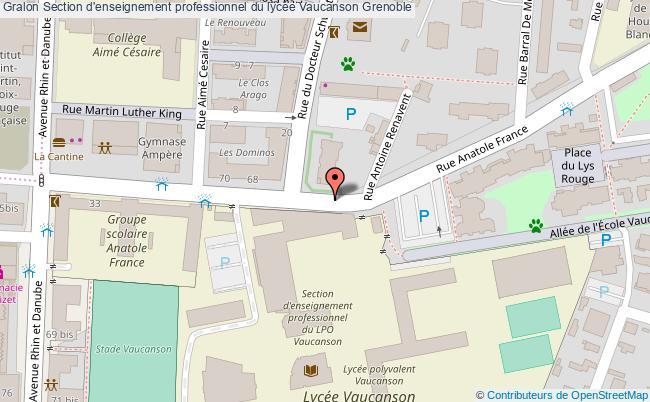 plan Section D'enseignement Professionnel Du Lycée Vaucanson Grenoble Grenoble
