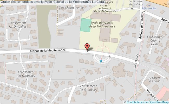 plan Section Professionnelle Lycée Régional De La Méditerranée La Ciotat La Ciotat