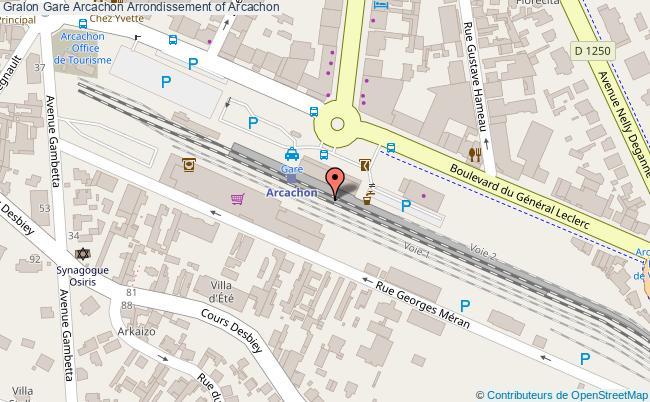plan gare  Arcachon
