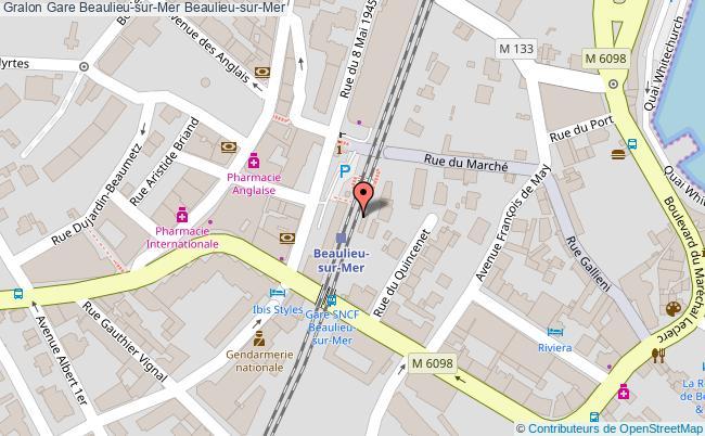 plan gare  Beaulieu-sur-Mer