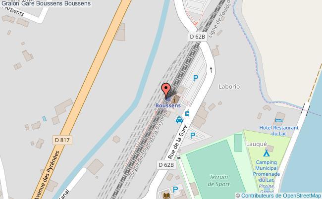 plan gare  Boussens