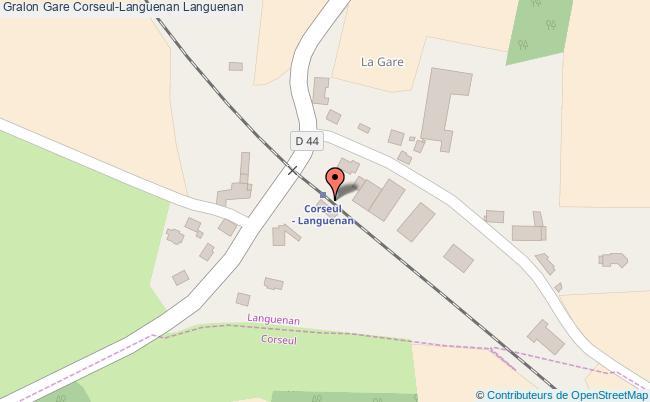 plan gare  Languenan