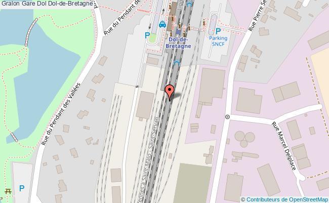 plan gare  Dol-de-Bretagne