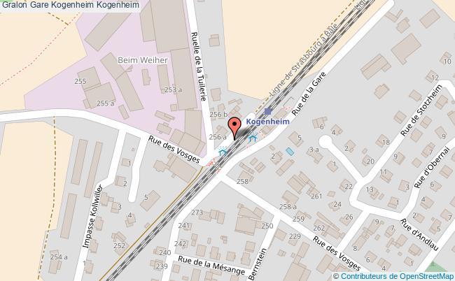 plan gare  Kogenheim
