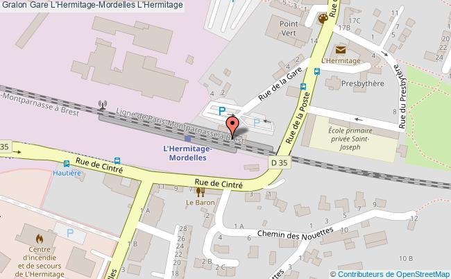 plan gare  L'Hermitage