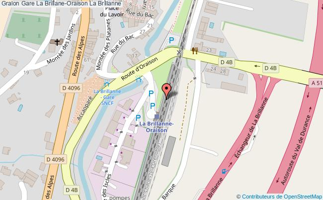 plan gare  La Brillanne