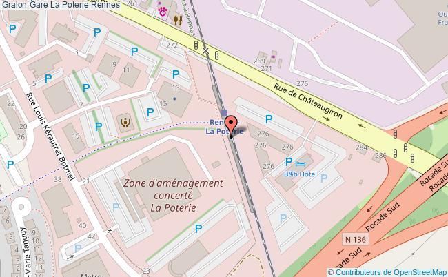plan gare  Rennes