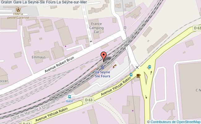 plan gare  La Seyne-sur-Mer