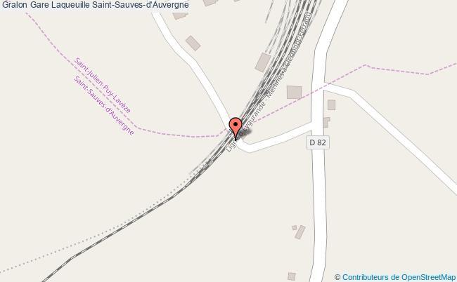 plan gare  Saint-Sauves-d'Auvergne