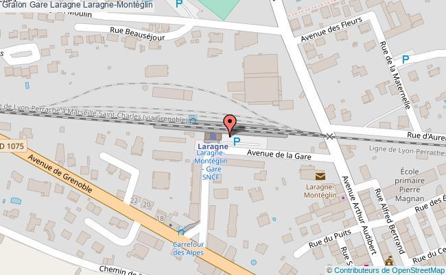 plan gare  Laragne-Montéglin