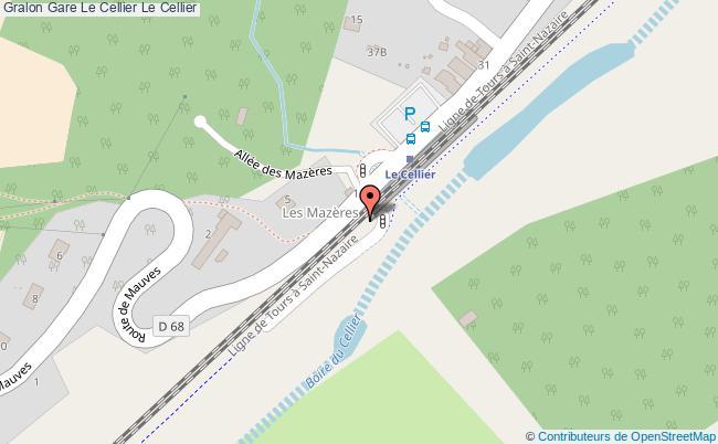 plan gare  Le Cellier