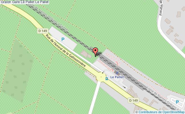 plan gare  Le Pallet