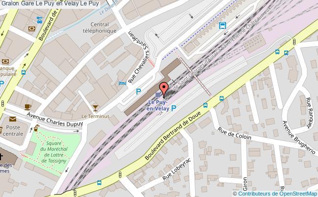 plan gare  Le Puy-en-Velay