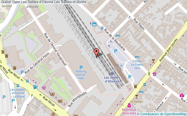 plan gare  Les Sables-d'Olonne