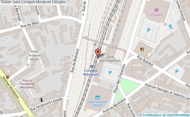 plan gare  Limoges