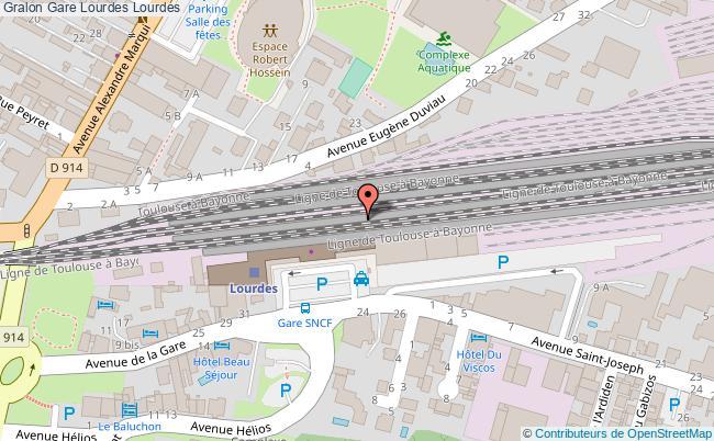 plan gare  Lourdes