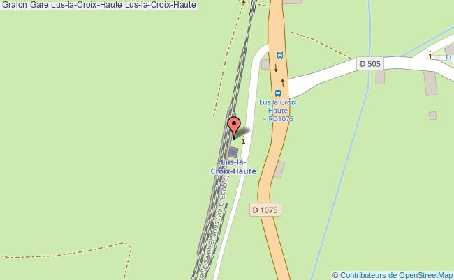 plan gare  Lus-la-Croix-Haute