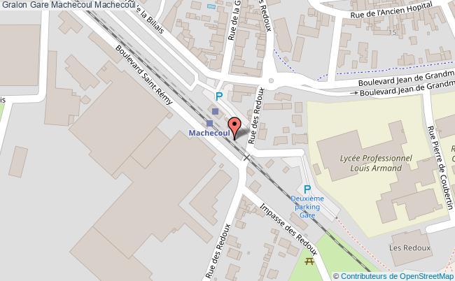 plan gare  Machecoul