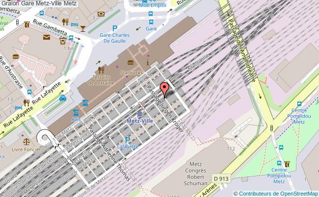 plan gare  Metz