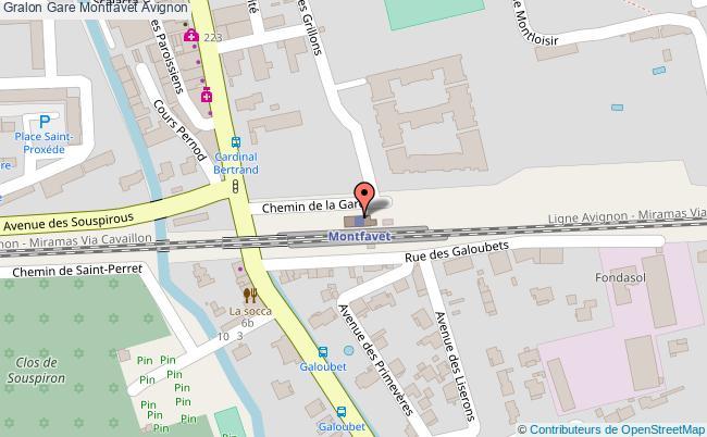 plan gare  Avignon