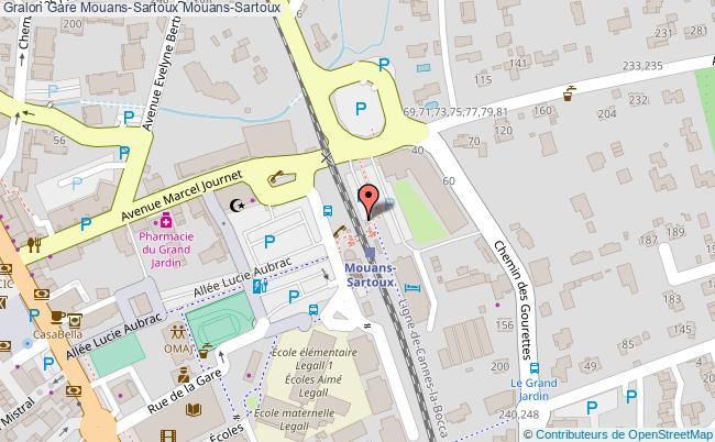 plan gare  Mouans-Sartoux