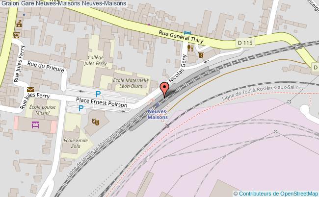 plan gare  Neuves-Maisons