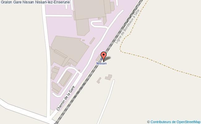 plan gare  Nissan-lez-Enserune