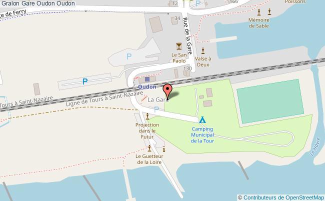 plan gare  Oudon