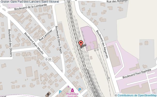 plan gare  Saint-Victoret
