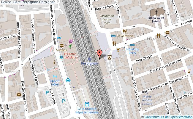 plan gare  Perpignan