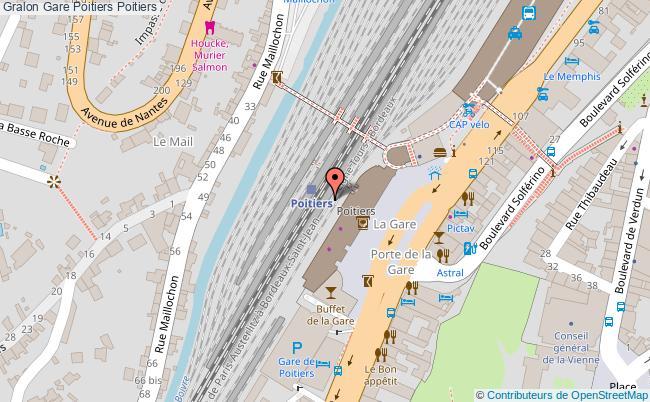 plan gare  Poitiers