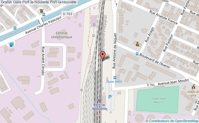 plan gare  Port-la-Nouvelle