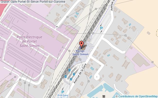 plan gare  Portet-sur-Garonne