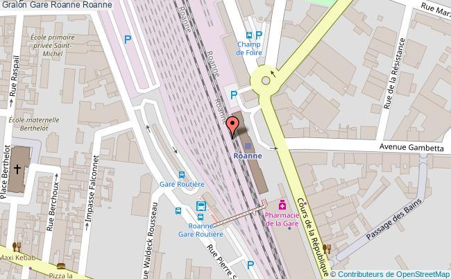 plan gare  Roanne