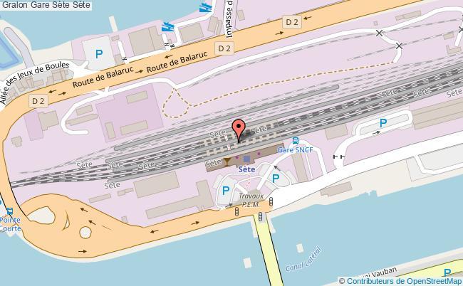 plan gare  Sète