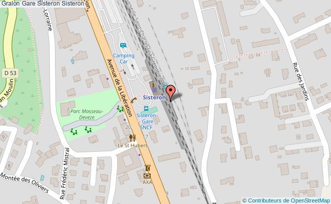 plan gare  Sisteron