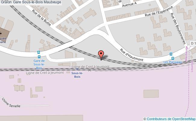 plan gare  Maubeuge