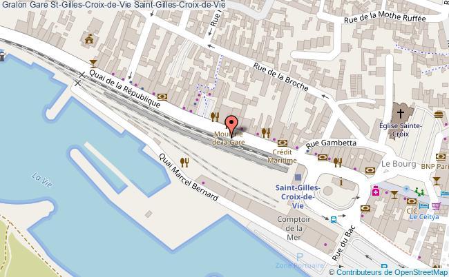 plan gare  Saint-Gilles-Croix-de-Vie