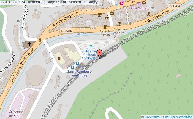 plan gare  Saint-Rambert-en-Bugey