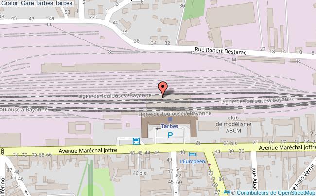 plan gare  Tarbes