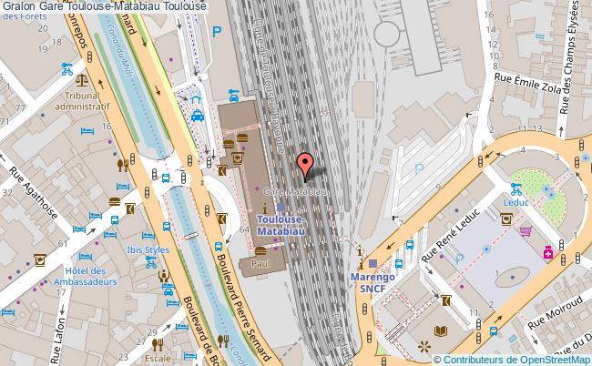 plan gare  Toulouse