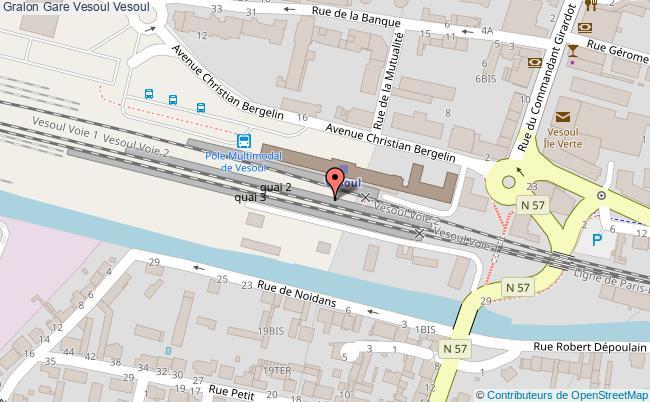plan gare  Vesoul