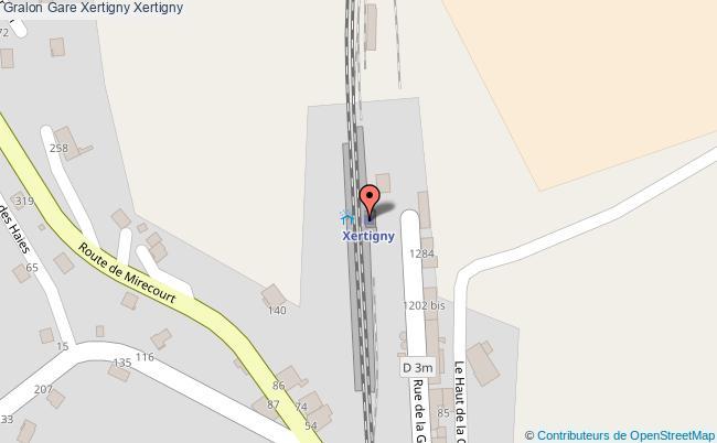 plan gare  Xertigny