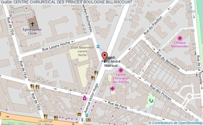 plan Centre Chirurgical Des Princes BOULOGNE BILLANCOURT