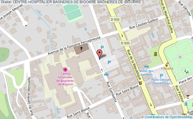 plan Centre Hospitalier Bagneres De Bigorre BAGNERES DE BIGORRE