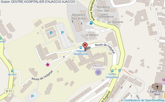 plan Centre Hospitalier D'ajaccio AJACCIO
